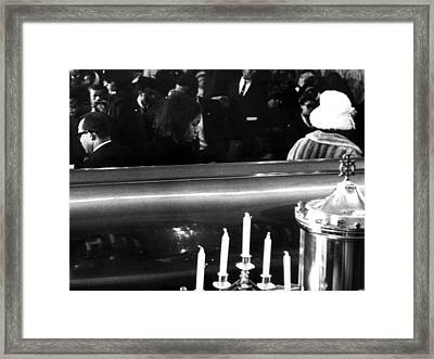A Last Look Mrs. Betty Little Shabazz Framed Print by Everett