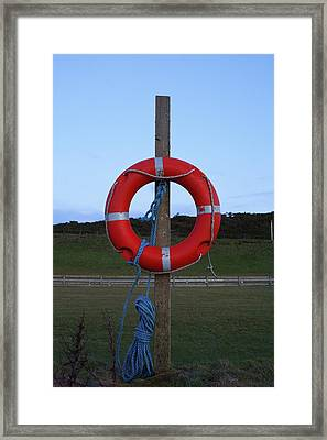 A Life Belt At-the-ready Framed Print