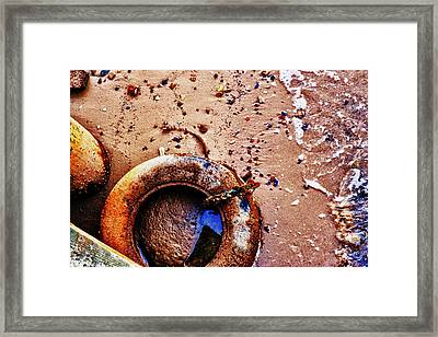 Framed Print featuring the photograph A Life Ring by Kelly Reber