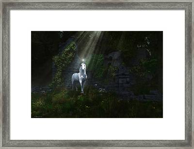 A Light In The Darkness Framed Print by Melissa Krauss