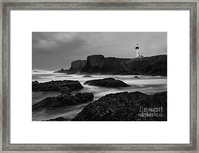 A Light In The Storm Framed Print by Keith Kapple