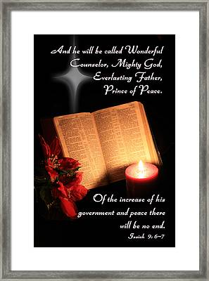 A Light To My Path Framed Print