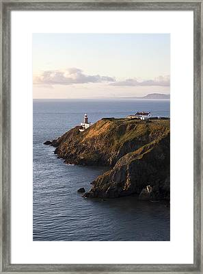 A Lighthouse On A Hill Ireland Framed Print