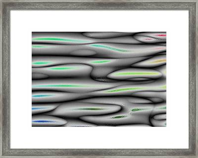 Framed Print featuring the digital art A Little Color by Jeff Iverson