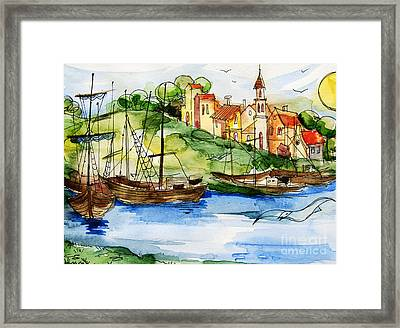 A Little Fisherman's Village Framed Print