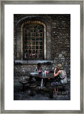 A Little More Conversation Framed Print by Yhun Suarez