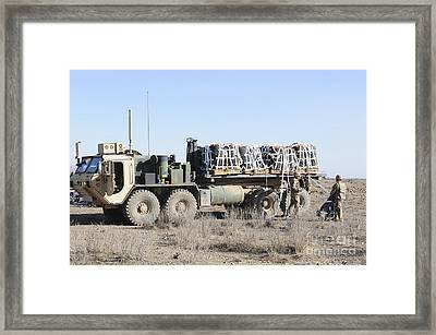 A Load Of Fuel Ready To Be Delivered Framed Print