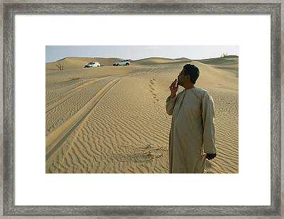 A Local Guide Muses That This Area Framed Print by Stephen Alvarez