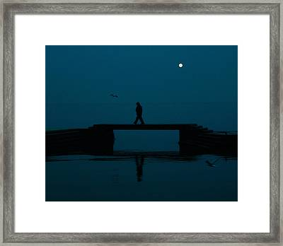 A Lone Man Framed Print by Jasna Buncic