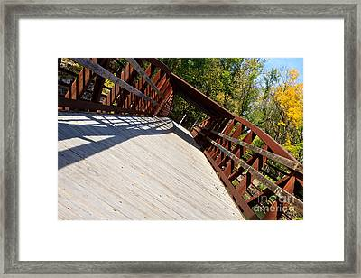 Framed Print featuring the photograph A Long Walk by Lawrence Burry