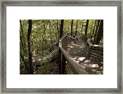 Framed Print featuring the photograph A Long Way Down by Jeannette Hunt