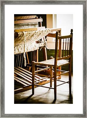 A Loom For Grandma Framed Print