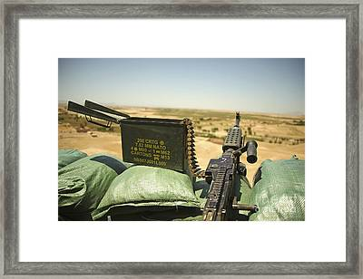 A M240b Medium Machine Gun Framed Print by Stocktrek Images