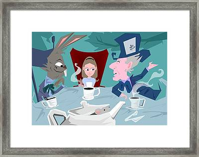 'a Mad Tea Party' Framed Print by Bryan  Rhoads