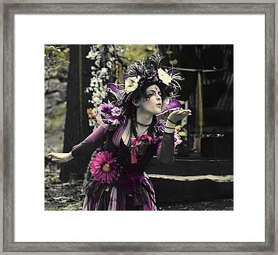 A Magical Kiss Framed Print by Rachel Katic