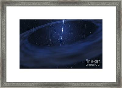 A Magnetar, A Very Small, Compact Framed Print by Fahad Sulehria