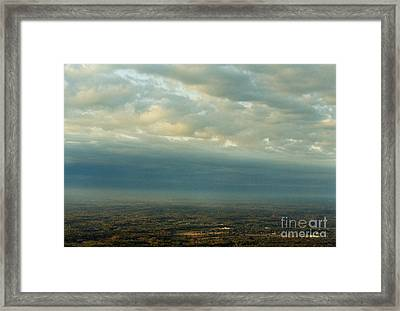 A Majestic Birds Eye View Framed Print by Thomas Luca