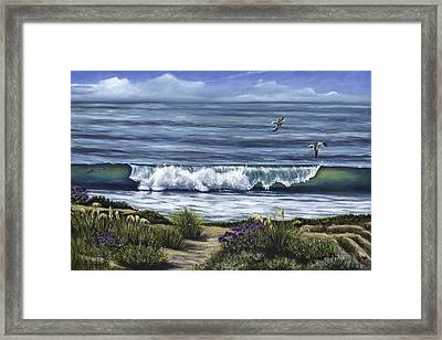 A Malibu Melody Framed Print by Lisa Reinhardt