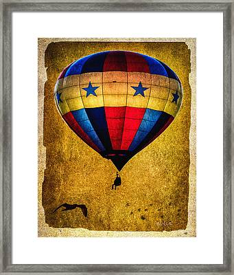 A Man And His Balloon Framed Print by Bob Orsillo