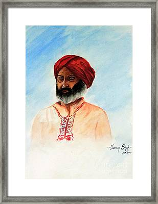 A Man From Rajsthan Framed Print by Tanmay Singh