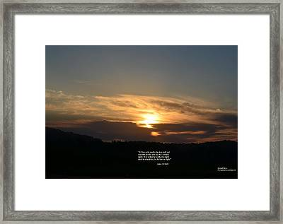 A Man Who Walks By Day Framed Print by Maria Urso
