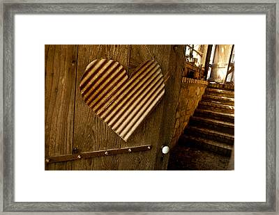 A  Man's Heart Framed Print