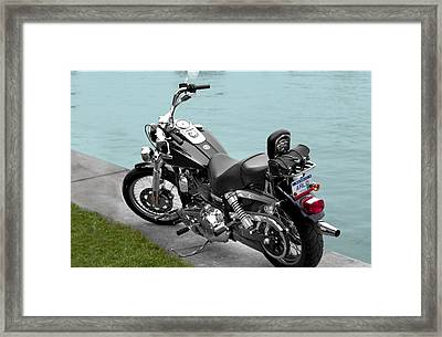 A Mans Vacation Framed Print by Dean Bennett