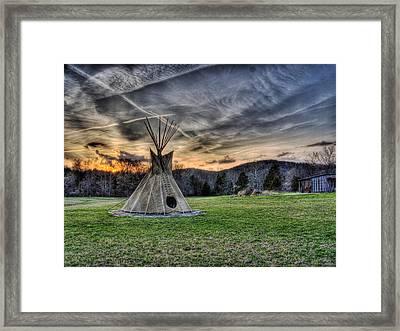 A Marbled Sky Framed Print