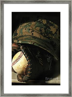 A Marines Athletic Gear Framed Print by Stocktrek Images