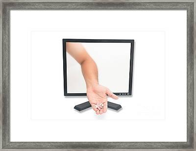 A Medicine Through Computer Screen Framed Print by Jomphong Polprasart