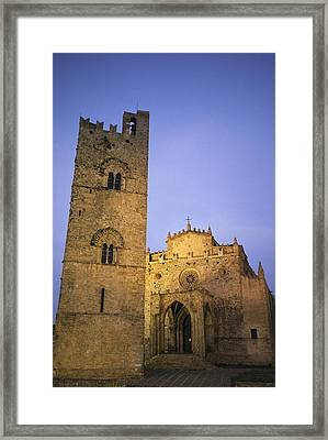 A Medieval Church And Campanile Or Bell Framed Print