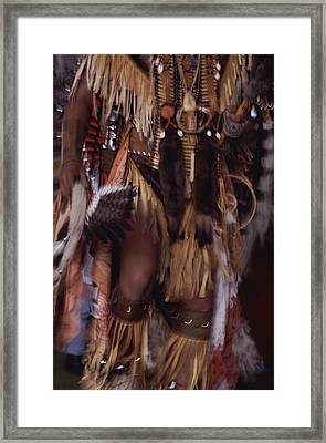 A Member Of The Blackfoot Tribe Framed Print by Annie Griffiths