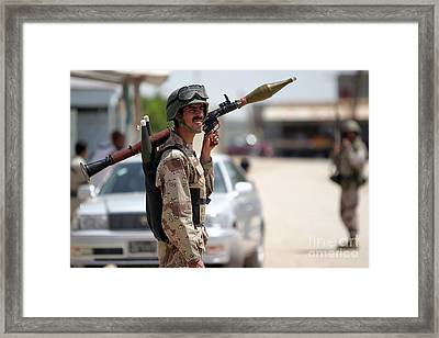 A Member Of The Iraqi Security Force Framed Print