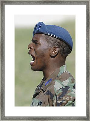 A Member Of The U.s. Air Force Academy Framed Print by Stocktrek Images