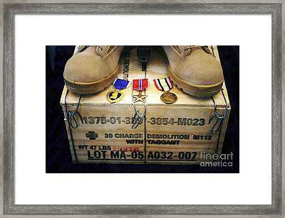 A Memorial Dedicated To An Airman Who Framed Print by Stocktrek Images
