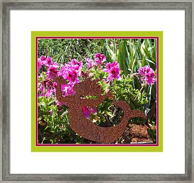 A Mermaid In My Garden Framed Print by Susan Alvaro
