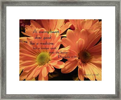 A Merry Heart Does Good Like A Medicine... Framed Print