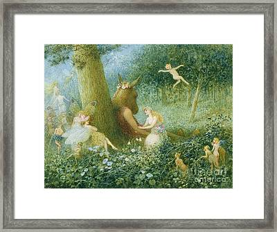 A Midsummer Night's Dream Framed Print by HT Green
