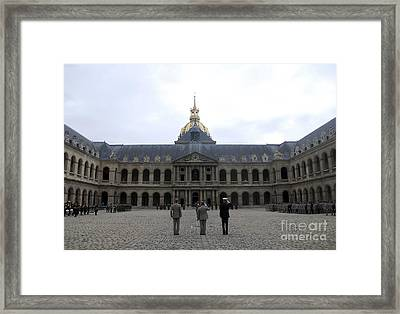 A Military Awards Ceremony Framed Print by Stocktrek Images