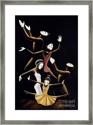 A Mime To Praise Framed Print by Frank Sowells Jr