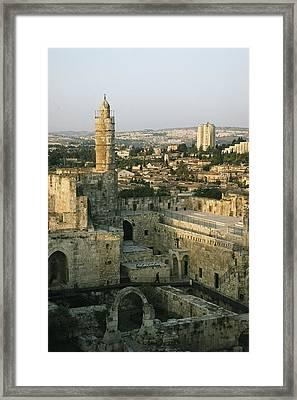 A Minaret In The Muslim Quarter Framed Print by Joel Sartore