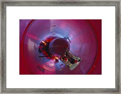 A Missile Procedure Trainer Simulates Framed Print by Annie Griffiths