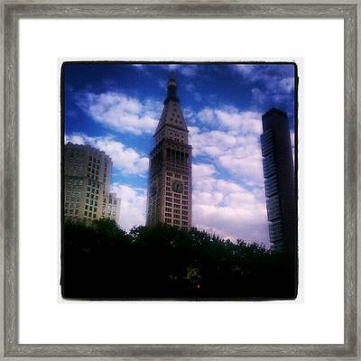 A Mix Of The Old & New #nyc Framed Print