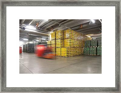 A Modern Brewery Warehouse In Estonia Framed Print