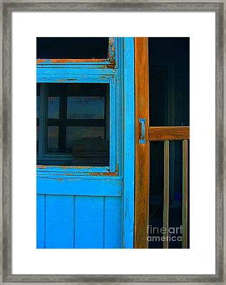 A Mom And Pop Stay On Topsail Island Framed Print