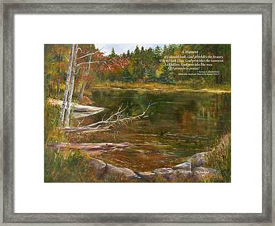 A Moment     With Poem Framed Print