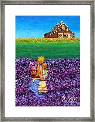 A Moment - Crop Of Original - To See Complete Artwork Click View All Framed Print