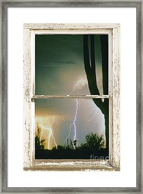 A Moment In Time Rustic Barn Picture Window View Framed Print by James BO  Insogna