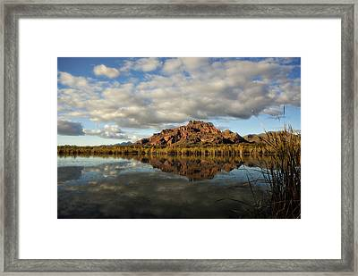 A Morning At Red Mountain Framed Print by Saija  Lehtonen