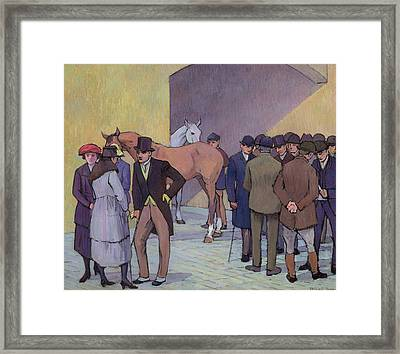 A Morning At Tattersall's Framed Print by Robert Polhill Bevan